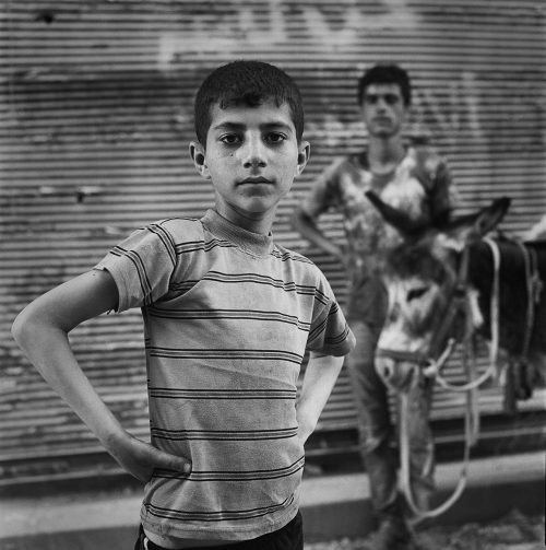 Khalid with donkey, Aleppo 2017 001