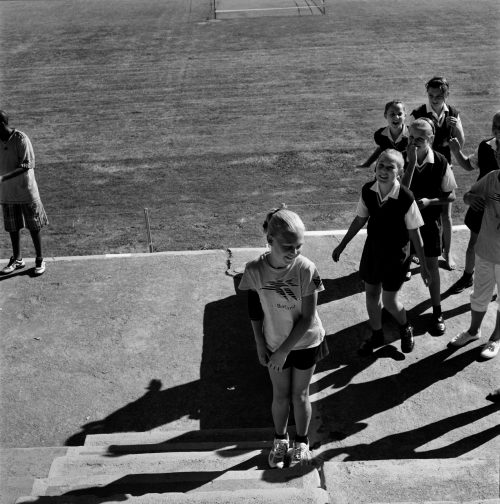 Girls doing Gym at Millenium School, Krugersdorp