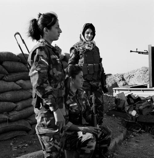 Kurdish Peshmerga Soldiers of the PAK Taking a Break During a Manoeuvre