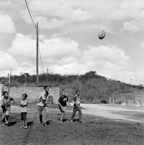 Pieter Pretorius Playing Rugby with Friends