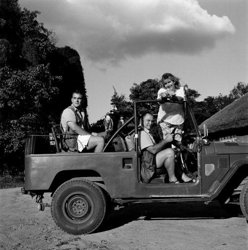 The Stafford Family with Hunting Falcons, Kuimbashiri Park
