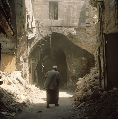 Mr Rihawi, our guide to the Souk in Ruins, 2017